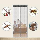 "Magnetic Screen Door,Fits Doors UP TO 34"" x 82"",Full Frame Velcro,Retractable Mesh Door Screen,Keeps Bugs & Mosquitoes Out,Let Fresh Air In (34''×82'')"