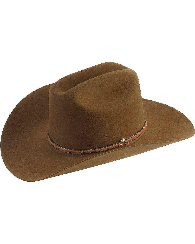 Stetson Men's Powder River 4X Buffalo Felt Cowboy Hat Mink 7