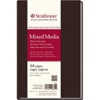 "Strathmore 566-5 500 Series Hardbound Mixed Media Art Journal, 5.5"" x 8.5"", White, 32 Sheets"