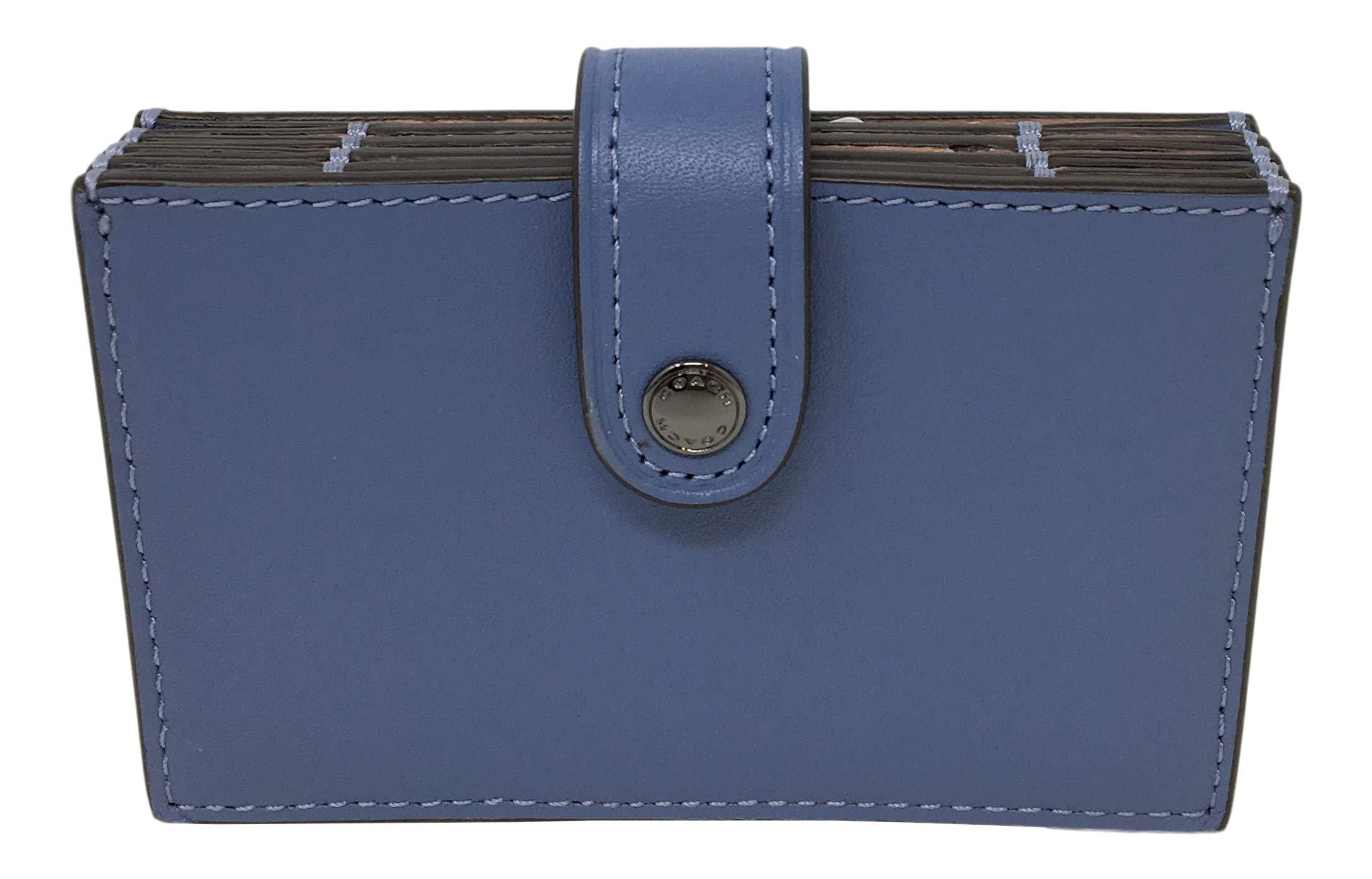 Coach Accordion Card Case Azure Blue F68393 by Coach