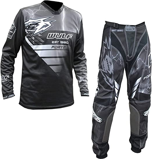Pants:30inch Waist 3XL Wulfsport 2020 Forte Adult Motorbike Sport Suit Motorcycle Motorcross Racing Shirts Pants Set Blue:Shirt