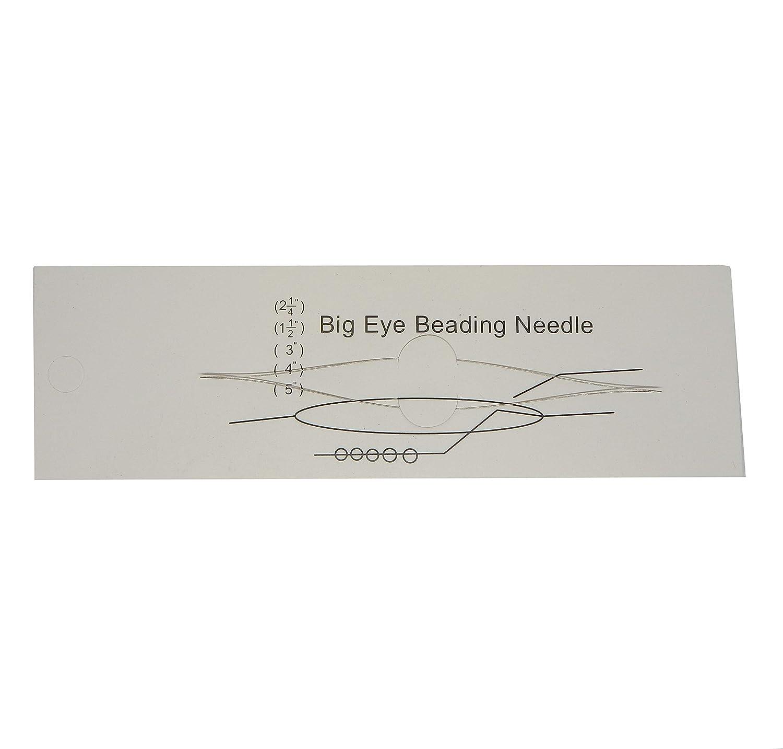 Y10 Big Eye Aiguilles /à Coudre en Acier Inoxydable pour rocailles Perles de 0,3 mm d/épaisseur
