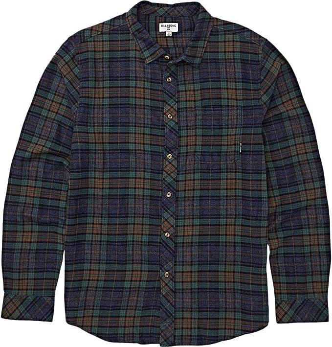 YUNY Men Banded Collar Button Down Leisure Long-Sleeve Work Shirt Light Blue M