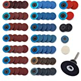 Sanding Discs Set 80 Pcs YUFUTOL 2 inch Roloc Quick Change Discs with a 1/4 inch Holder,Surface Conditioning Discs for…