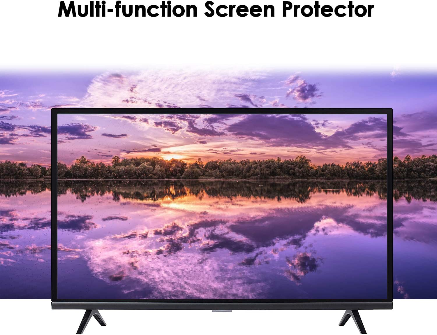 875483mm Anti Glare TV Screen Protector Blue Light TV Screen Protector Scratches and Finger Prints,40inch Anti Blue Light /& Glare Filter Film//Prevents Damage