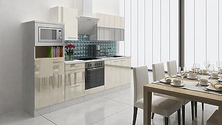 respekta Premium Instalación de Cocina Cocina 280 cm Vainilla ...