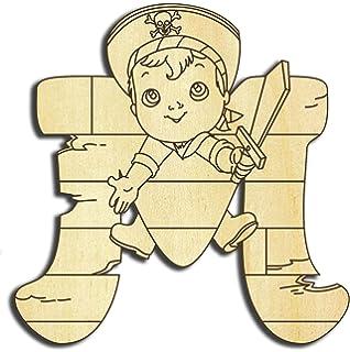 Buchstabentiere 10cm H/öhe Holzbuchstaben Holz-Buchstabe Farbklecks Collection Holzbuchstabe Pirat J