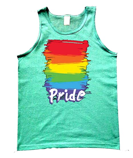 a22ab74ff69c57 Amazon.com  Rainbow Gay Pride Tank Top Mint Green Men s S-2XL  Clothing