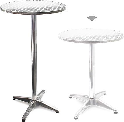 Mesa de bar Bistro Aluminio Altura regulable 70-110 cm Ø 60 cm ...
