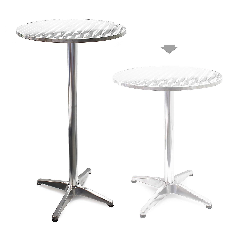 Tavolo alto da bar rotondo alluminio altezza regolabile 70-110 cm /Ø 60 cm