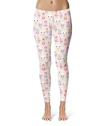 a2af577a7a2cb Kawaii Icecream Leggings for Women Sizes XS-3XL Designer Lycra Gym ...