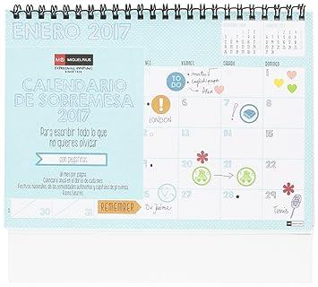 Miquelrius 28018 - Calendario de sobremesa A5, lovely