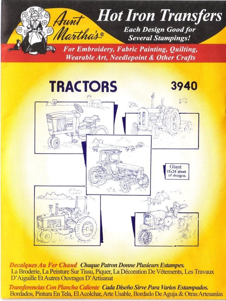 Amazon.com: Farm Tractors Aunt Martha\'s Hot Iron Embroidery Transfer