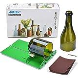 AGPtek Botella de vino cortador de vidrio herramienta de corte que alcanzaron el vino Máquina de corte de la botella por DIY reutilización recicla Oso Tarros Botella de vino Creación de Vidrieras, vasos, botellas Jardineras, Lámparas Botella, Porta velas (Bottle cutter)