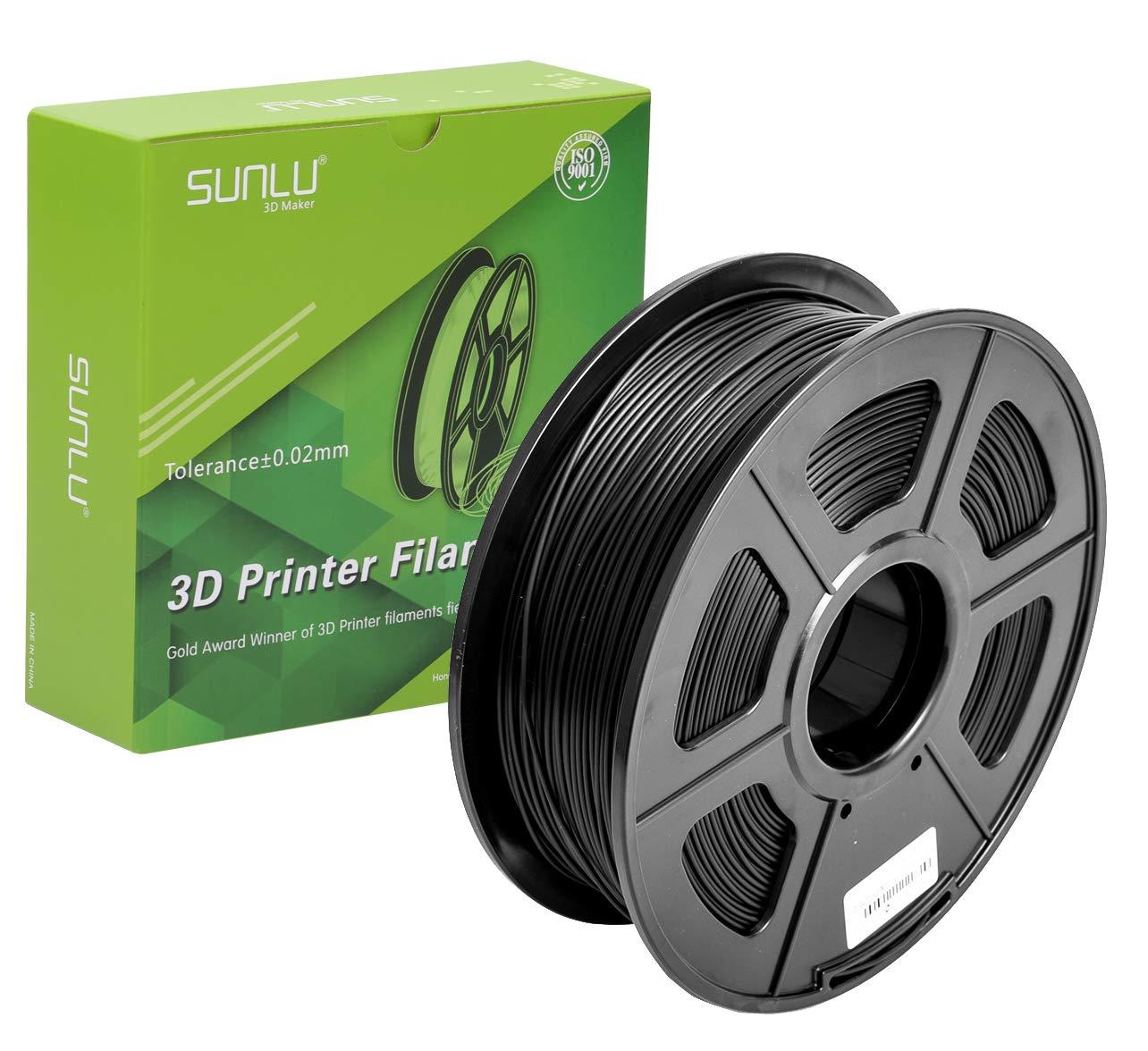SUNLU impresión 3D Filamento PLA de 1,75 mm, precisión dimensional ...