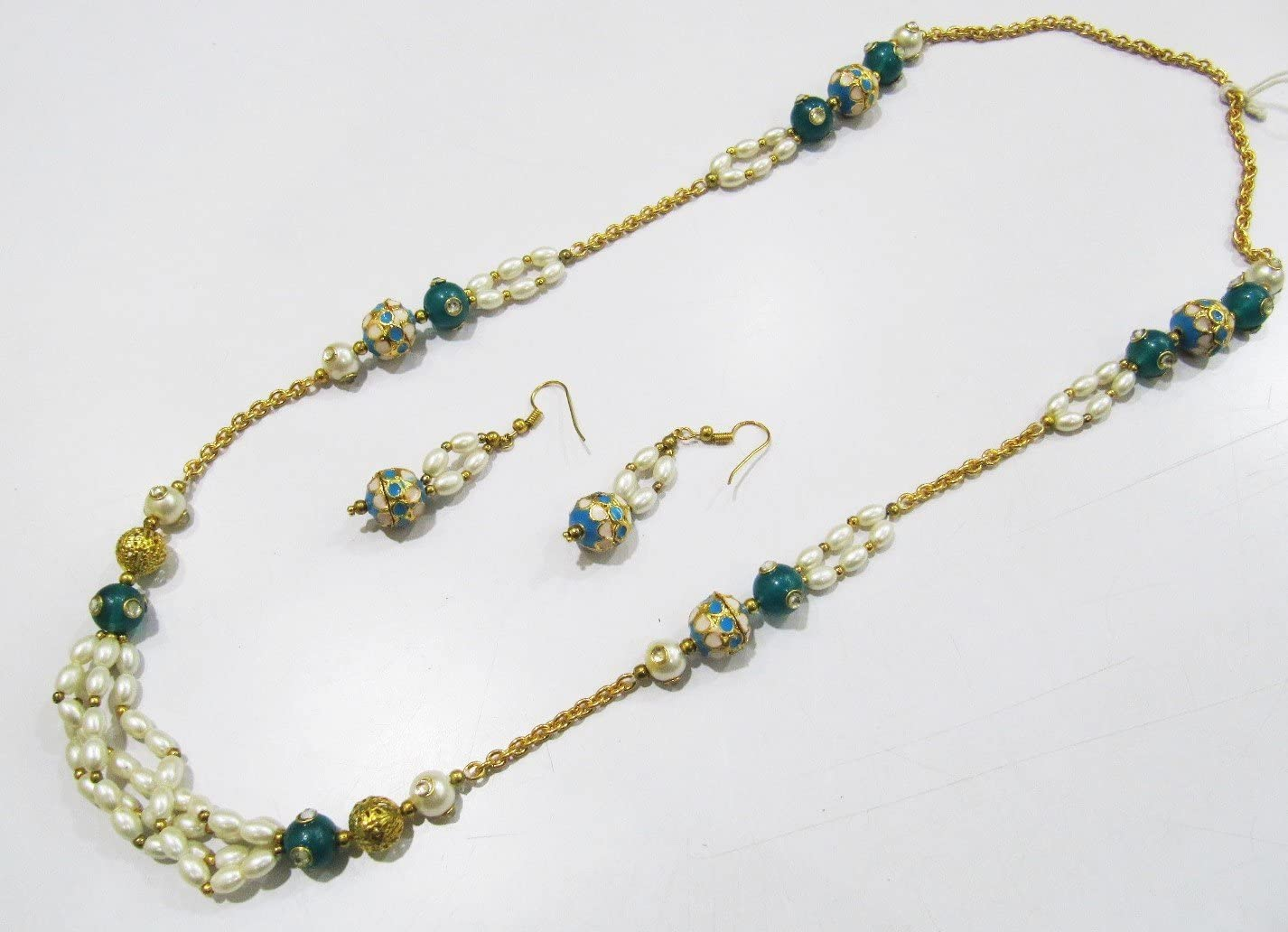 Handmade Designer Seed Beaded Multi Row Necklace Unique Stylish bijouterie