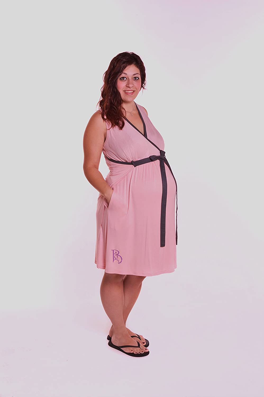 Amazon.com: BG Birthing Gown, Blush/BrownTrim: Baby