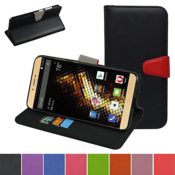 promo code 45ea4 4049f Blu Vivo 5 V0050UU Case,Mama Mouth [Stand View] Flip Premium PU Leather  [Wallet Case] with Built-in Stand Credit Card/Cash Slots and Pocket Cover  for ...
