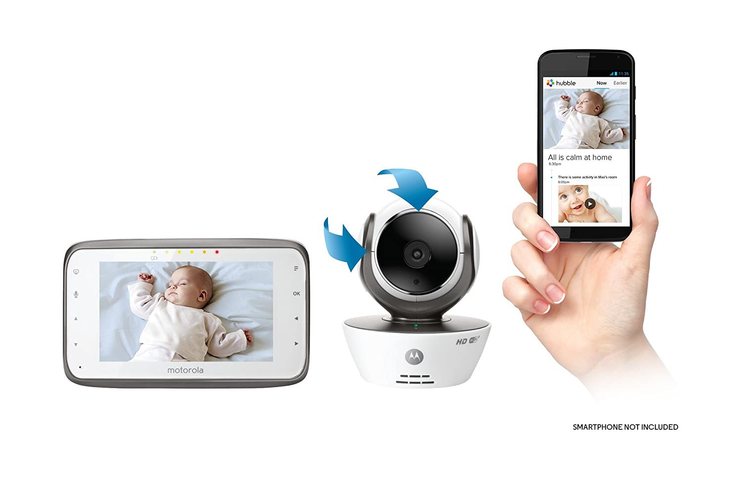 motorola 5 portable digital video baby monitor. amazon.com : motorola mbp854connect dual mode baby monitor with 4.3-inch lcd parent and wi-fi internet viewing 5 portable digital video