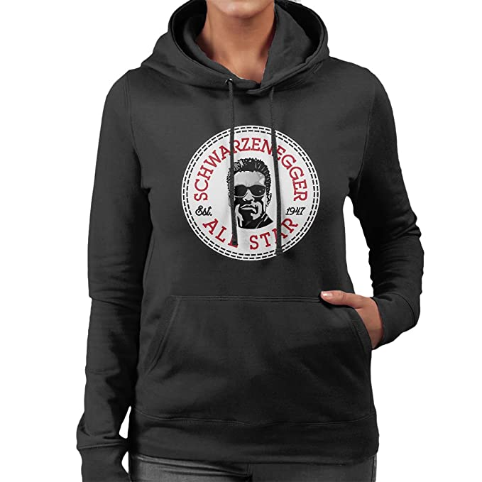 126983d0e6be Arnold Schwarzenegger All Star Converse Logo Women s Hooded Sweatshirt