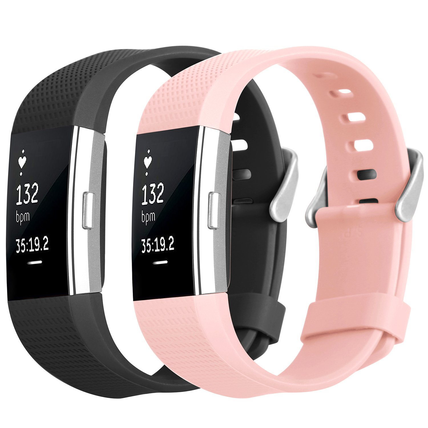 fitbit charge 2 bandhanlesi soft tpe design replacement band bracelet fitness ebay. Black Bedroom Furniture Sets. Home Design Ideas