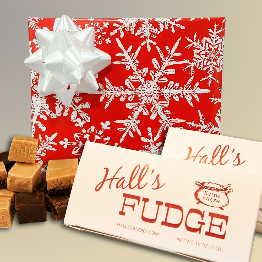 Winter Wishes - Assorted Fudge Gift Box - Hall's Candies