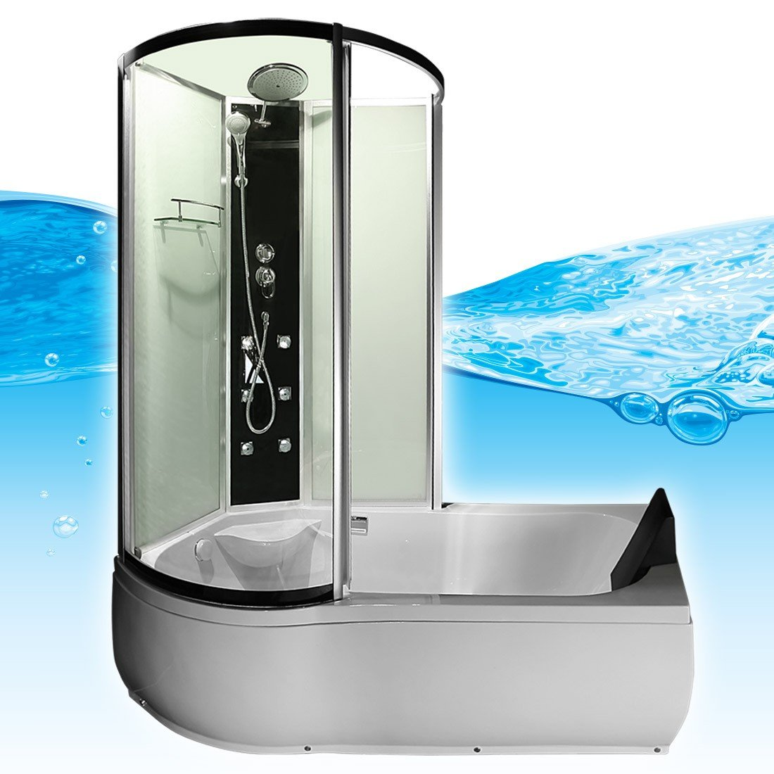 AcquaVapore DTP8050-A000R Wanne, Badewanne, Dusche, Duschkabine ... | {Badewanne mit dusche 40}