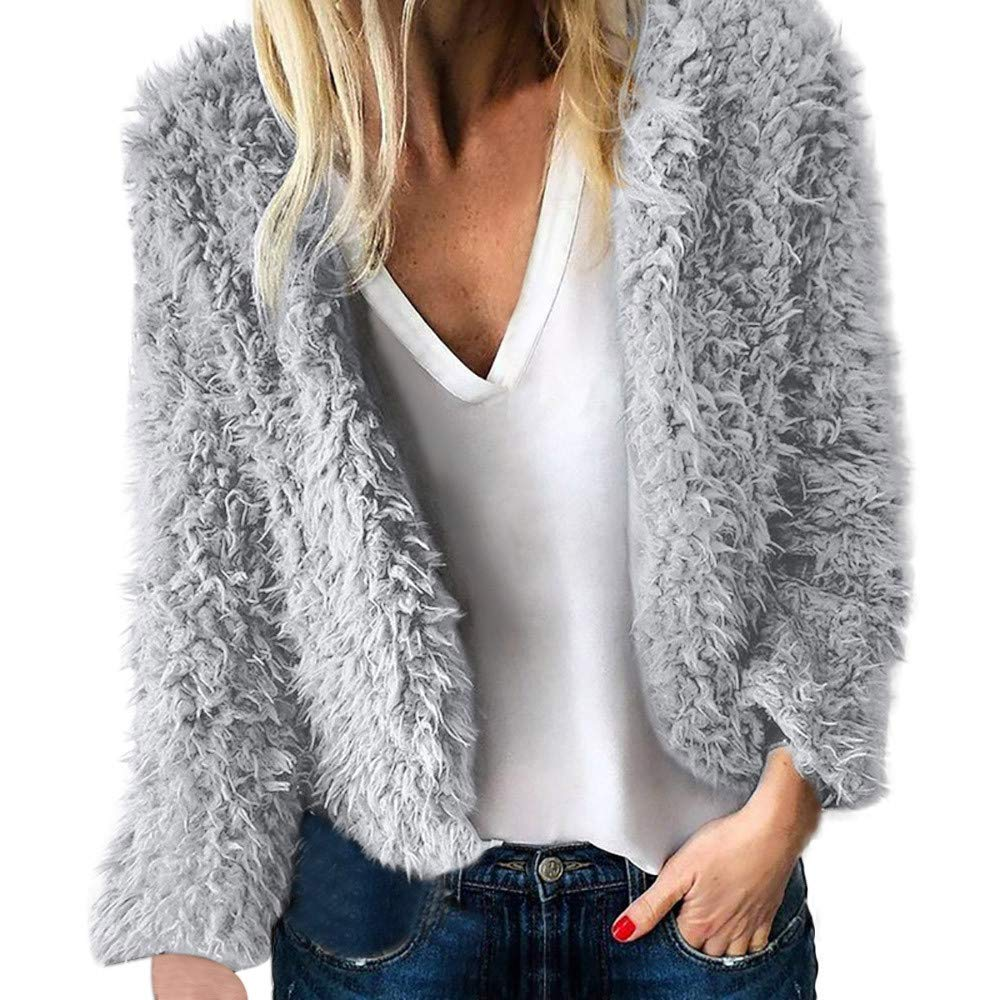 PASATO Womens Ladies Warm Artificial Wool Coat Jacket Lapel Winter Outerwear Clearance Sale at Amazon Womens Clothing store:
