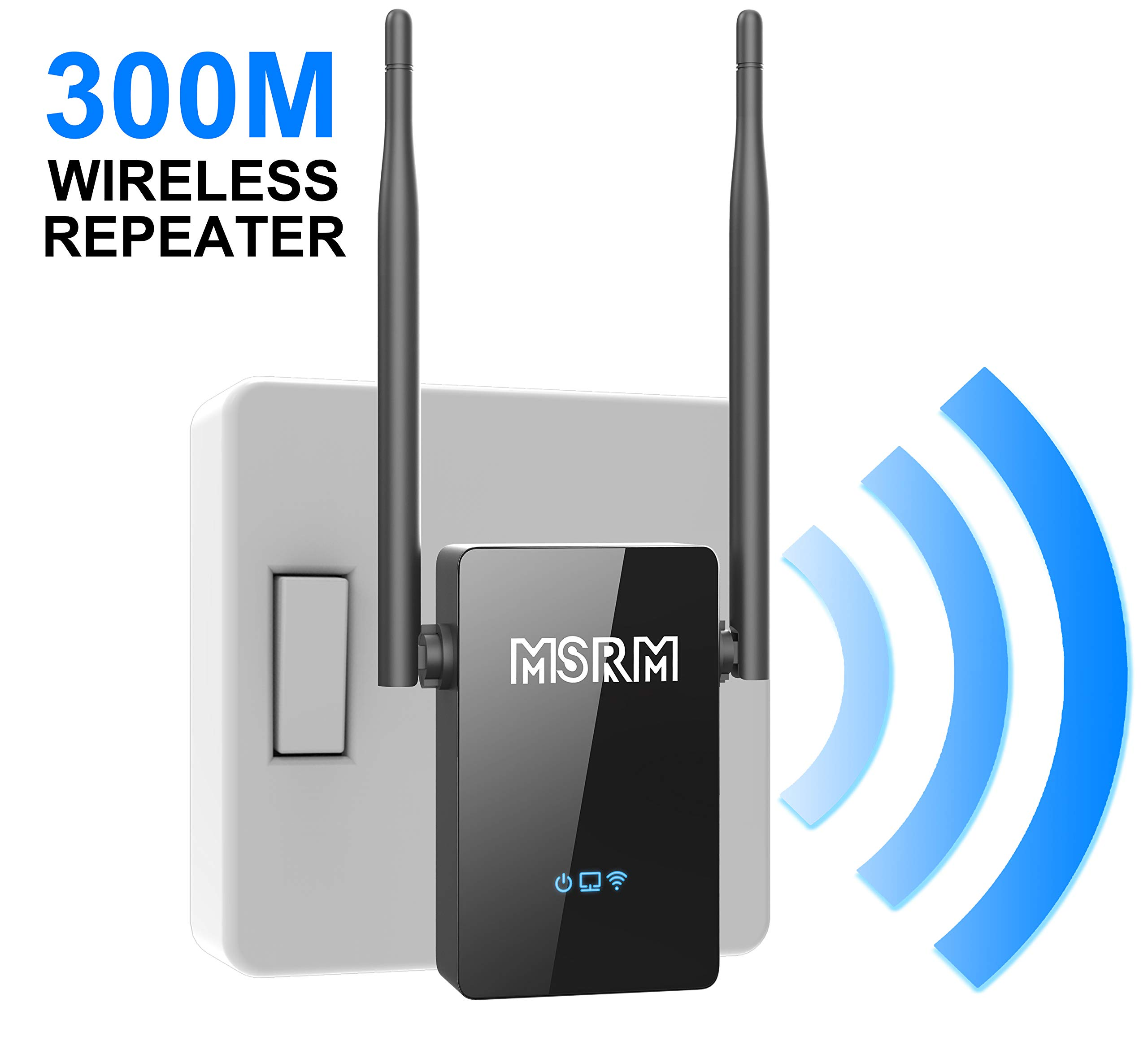 MSRM US302 Wireless-N 300Mbps Extender WiFi Repeater Signal Booster 802.11n/b/g Network with Ethernet Cable by MSRM