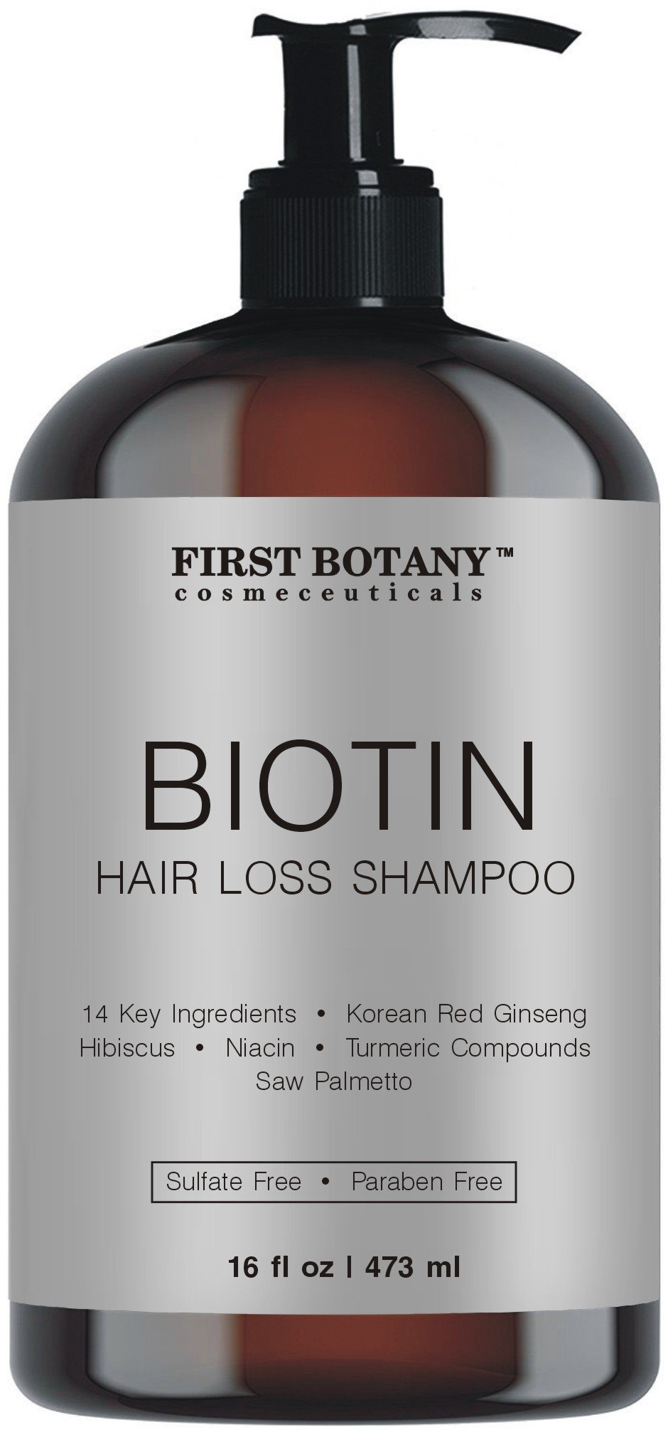 Hair Growth Hair Loss Shampoo - 16 fl oz, with 14 DHT blockers- Hair Regrowth and Daily Hydrating, Detoxifying, Volumizing Shampoo For Men and Women by First Botany Cosmeceuticals