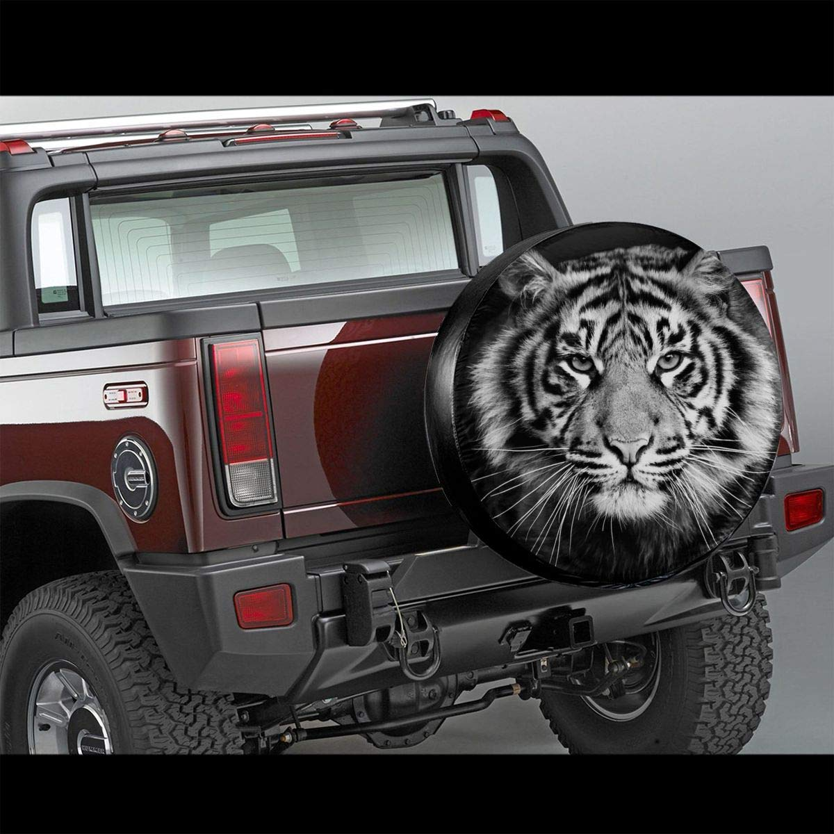 Desing shop Tire Cover White Tiger Potable Polyester Universal Spare Wheel Tire Cover Wheel Covers Jeep Trailer RV SUV Truck Camper Travel Trailer Accessories 15 in