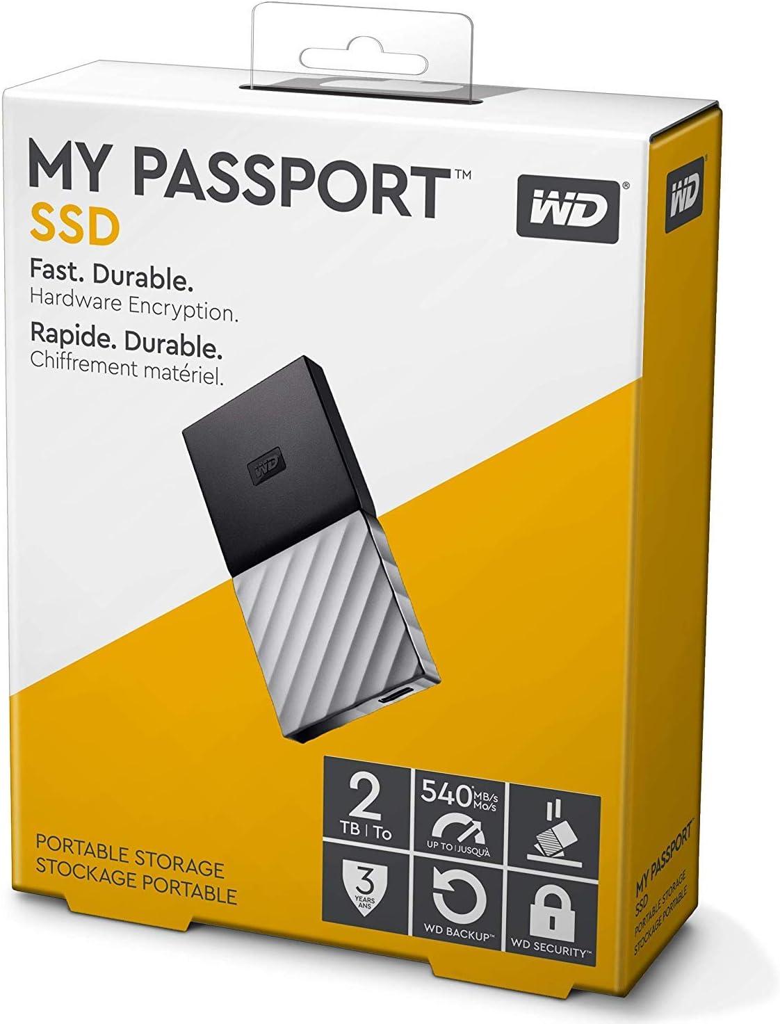 WD My Passport SSD, Almacenamiento portátil de 2TB, Color Negro ...