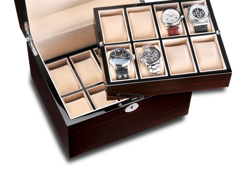 Hermann JÄckle Heidelberg Uhrenbox fÜr 16 Uhren J16B-MK makassar