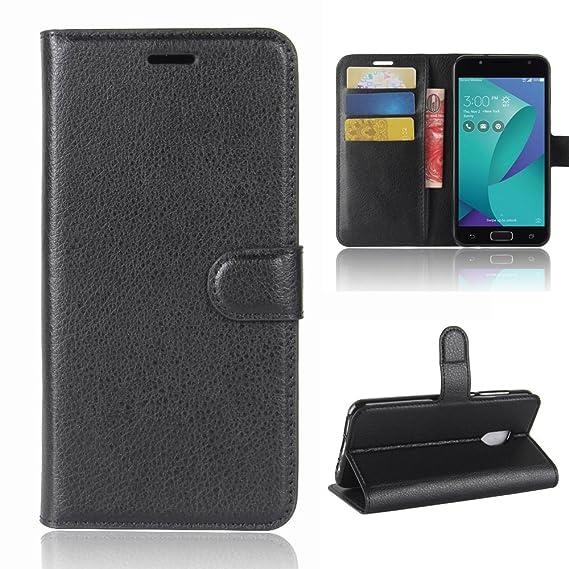 new product f5c47 7791a Asus Zenfone V Live V500KL Case, Best Share Premium Flip Kickstand Leather  Wallet Case Full Protective Cover & Card Slot for Asus Zenfone V Live ...