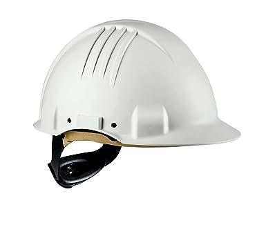 3M G3501M-VI Casco de Seguridad, Arnés de ruleta, Banda sudor cuero,