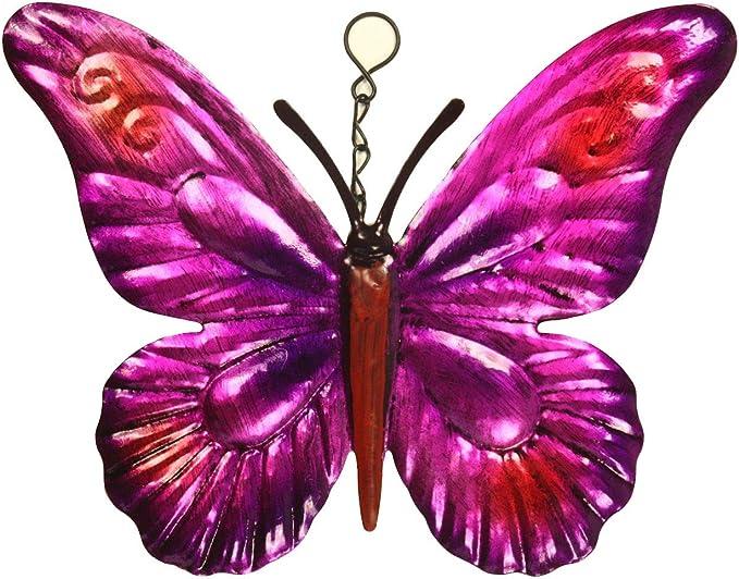 Set 3 en métal de couleur Papillons Décoration De Jardin Mur Art Papillon Lover 16 cm