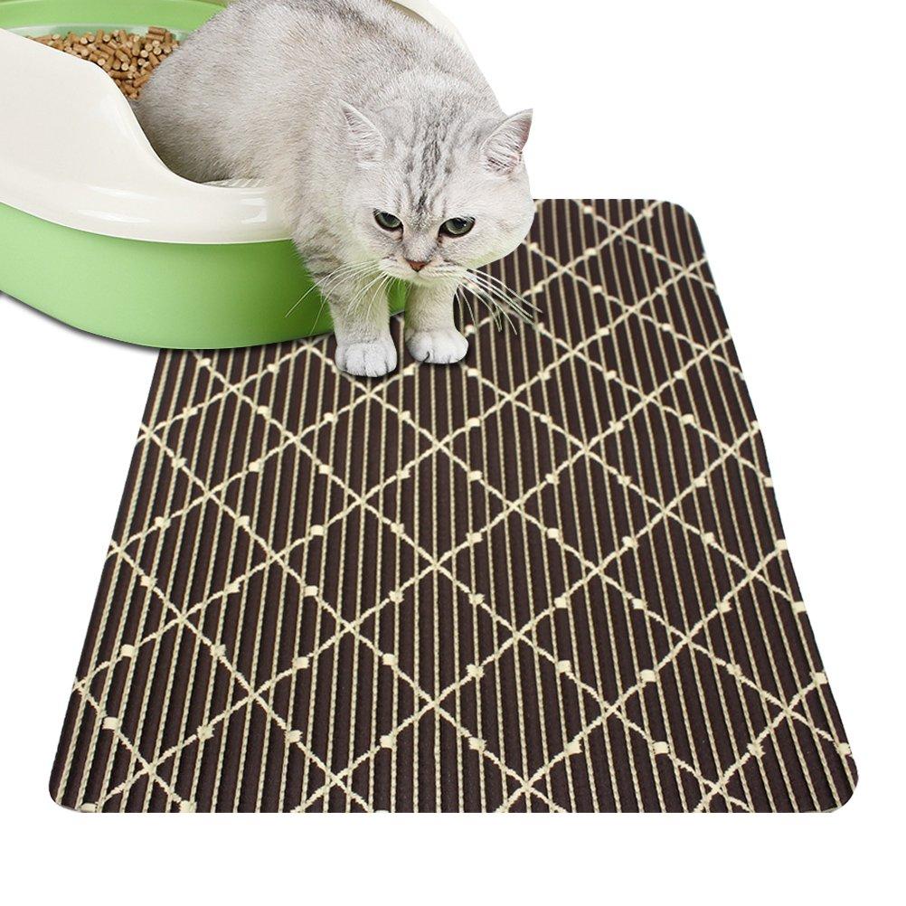 Cat Litter Mat Feeding Mats Iaimee Litter Trapper Mat Food Mat Strong Water Absorption Soft for Paws