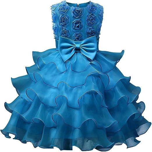b2d1680500e2d NNJXD Girl Dress Kids Ruffles Lace Party Wedding Dresses
