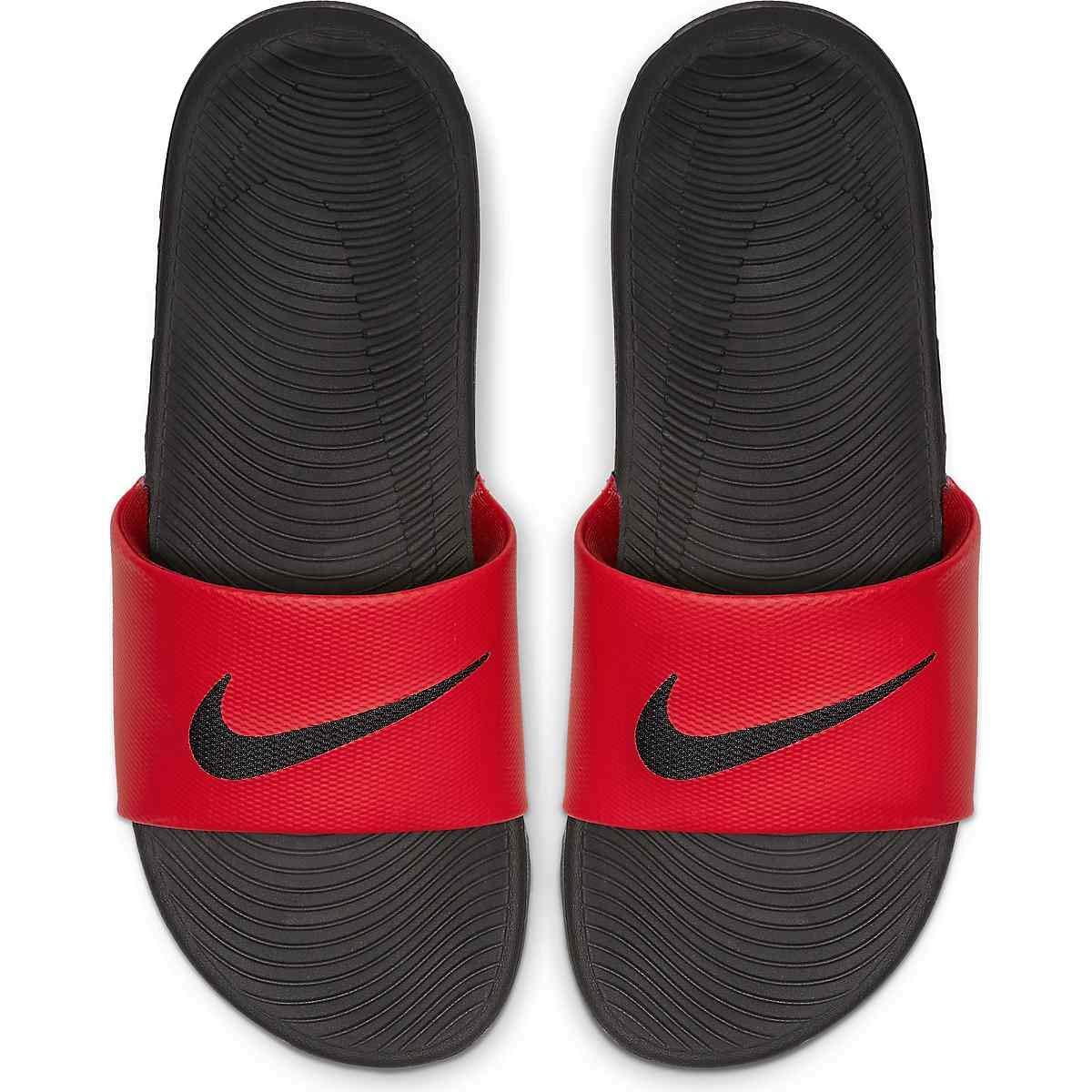 Nike Mens Kawa Slide Athletic Sandal, Red/Black Size 11 M US