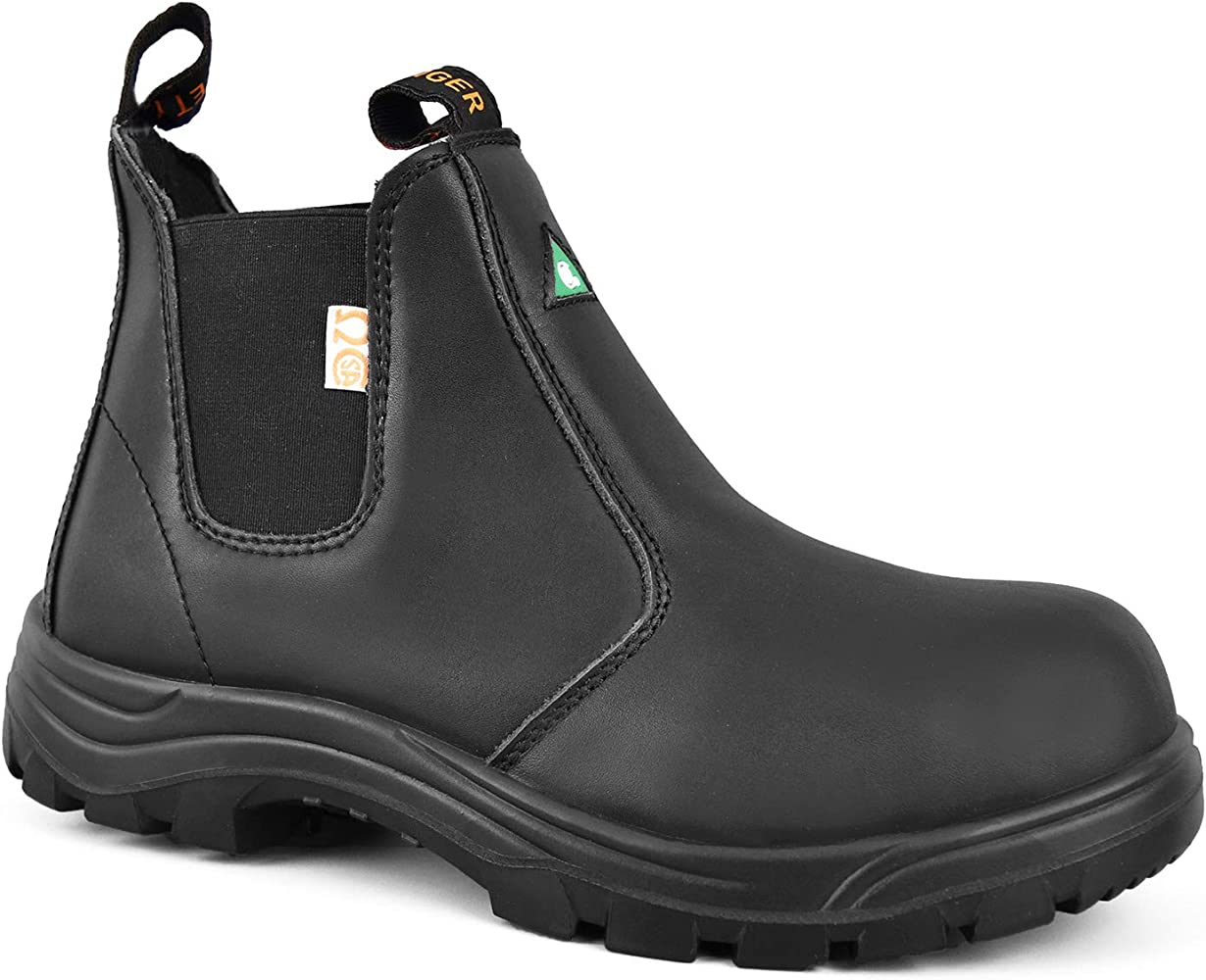 Tiger Safety Men's Leather Steel Toe