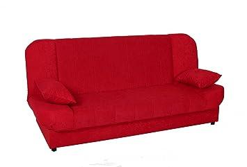 magasin d'usine 06150 4eb98 Mobilier Deco CANAPÉ CLIC CLAC Convertible Rouge