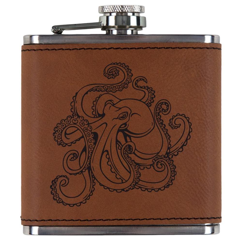 【特価】 Octopus Tattoo Etched Leatheretteフラスコ OneSize ブラウン Etched ブラウン 00177883-RAW-OS OneSize Tattoo ブラウン B076TFP9C8, クワナシ:1bfd6399 --- a0267596.xsph.ru