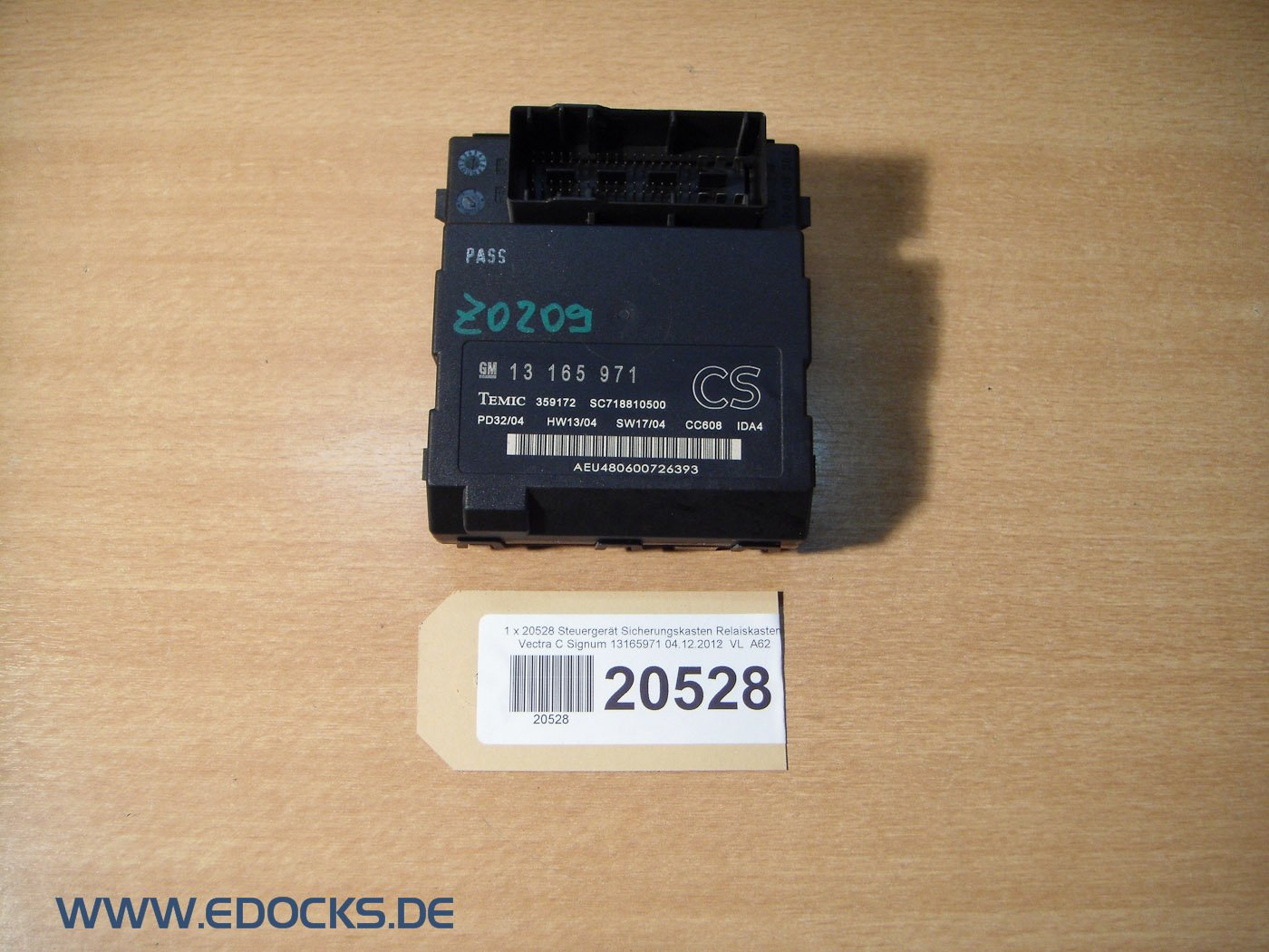 OPEL VECTRA C SIGNUM Fuse Box ECU RELAY BOX: Amazon.co.uk ... on