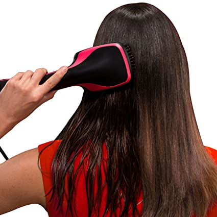 One Step Hair Dryer & Styler, Szwintec Blow Dryer Hot Air Paddle Brush Negative Ion Generator Salon Hair Straightener For All Hair Types by Szwintec