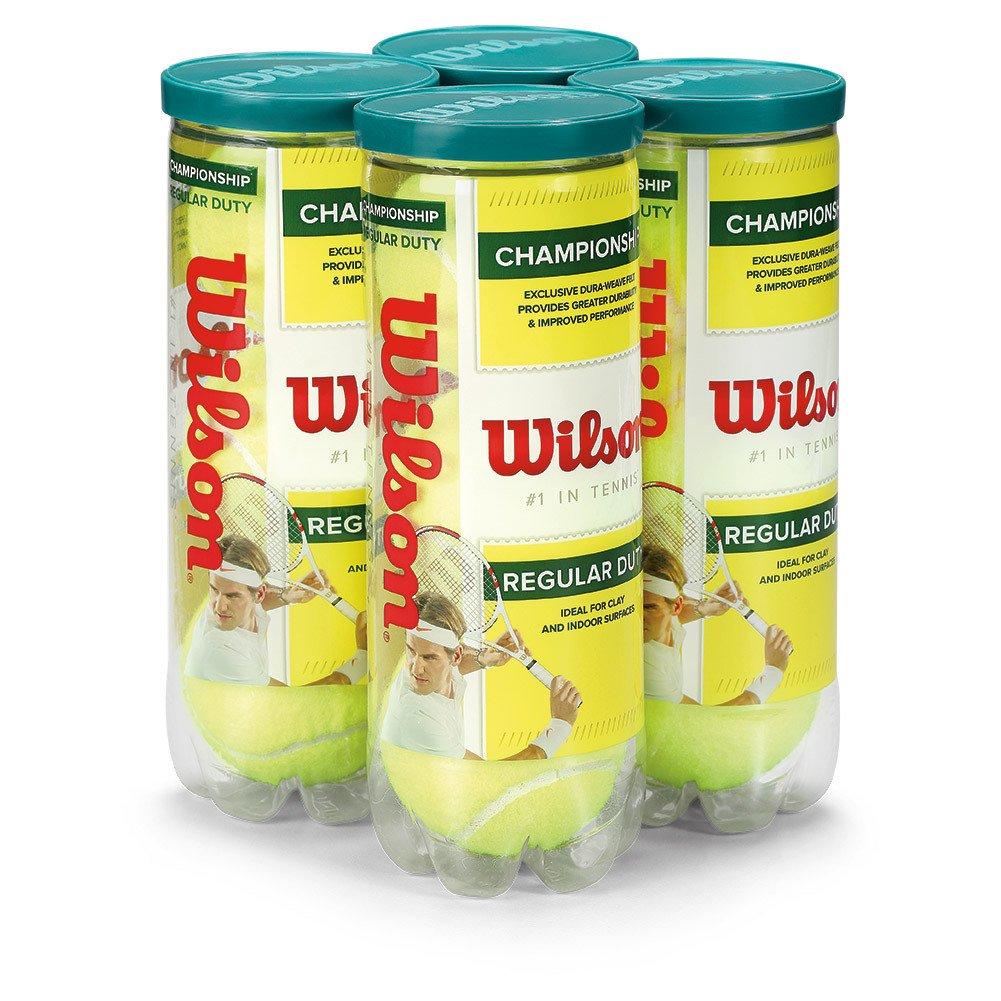 Wilson Championship Regular Duty Tennis Ball (4-Pack), Yellow by Wilson