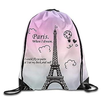 Dutch Paris Eiffel Tower - Mochila Deportiva para Hombre y Mujer, con cordón