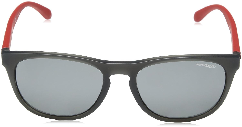 Arnette Mens Hardflip Non-Polarized Iridium Square Sunglasses MATTE GREY 56 mm