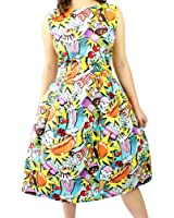 Women's Hemet Popart Pleated Dress