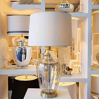 BMKY Tischlampe Transparente Glasvasen Tischlampe Moderne Wohnzimmer Studie  Schlafzimmer Dekoration Tischlampe Tischlampe