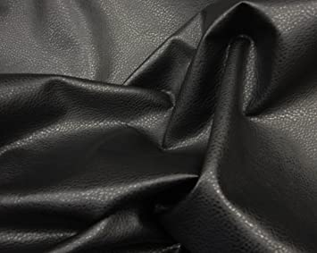 Black Upholstery Ford Faux Leather Vinyl Fabric Per Yard